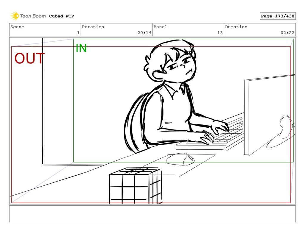 Scene 1 Duration 20:14 Panel 15 Duration 02:22 ...