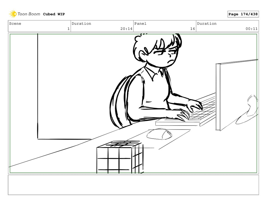 Scene 1 Duration 20:14 Panel 16 Duration 00:11 ...