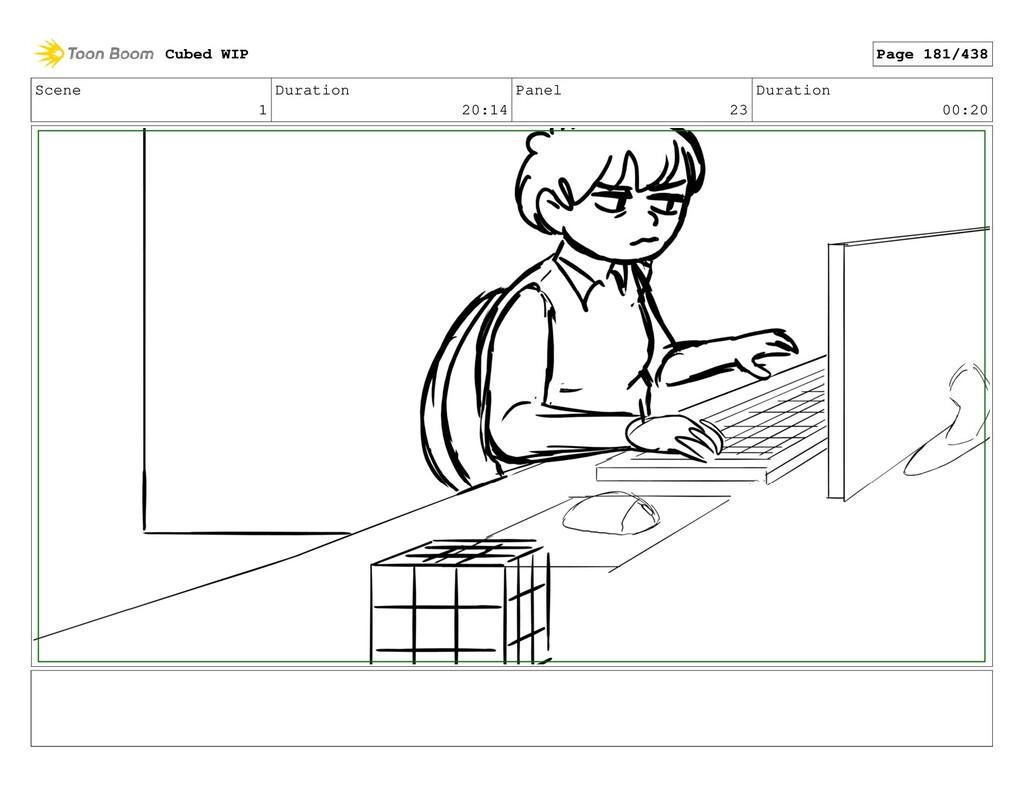 Scene 1 Duration 20:14 Panel 23 Duration 00:20 ...