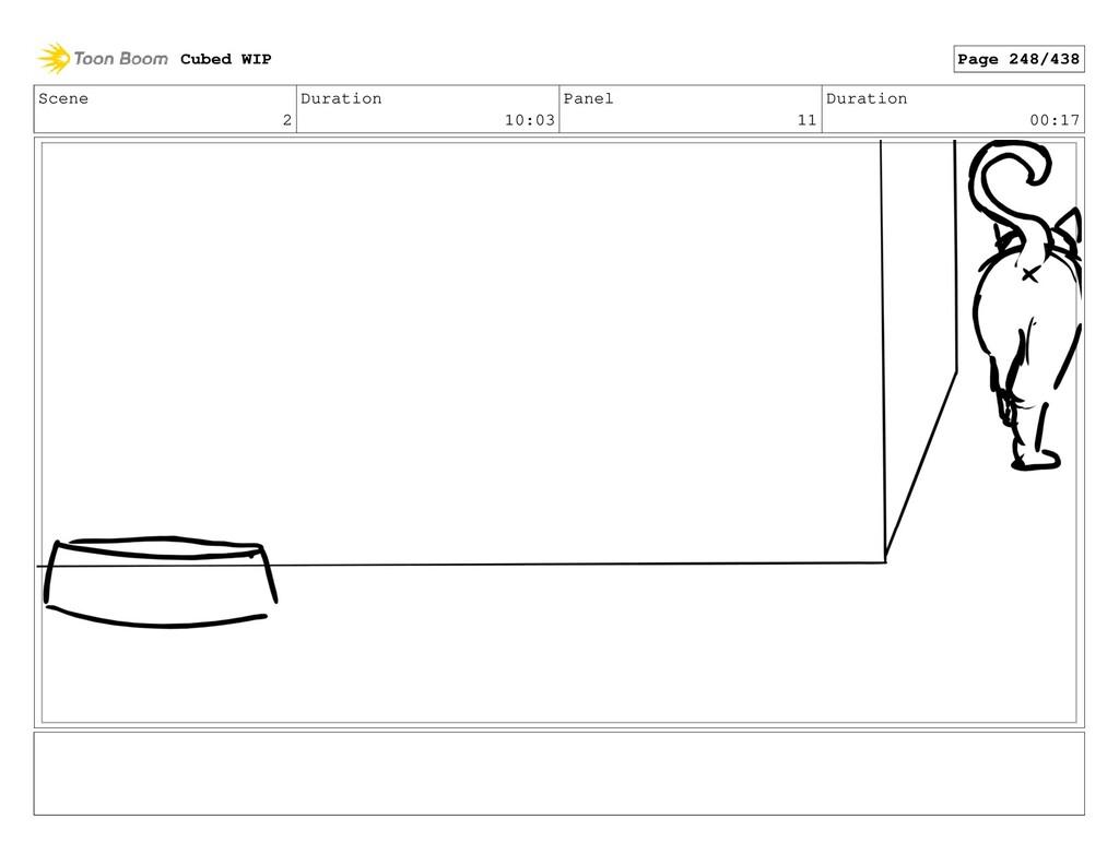 Scene 2 Duration 10:03 Panel 11 Duration 00:17 ...