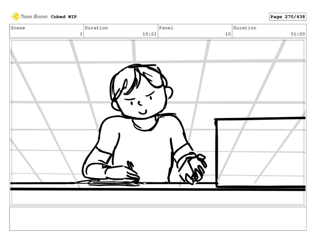 Scene 1 Duration 10:21 Panel 10 Duration 01:00 ...