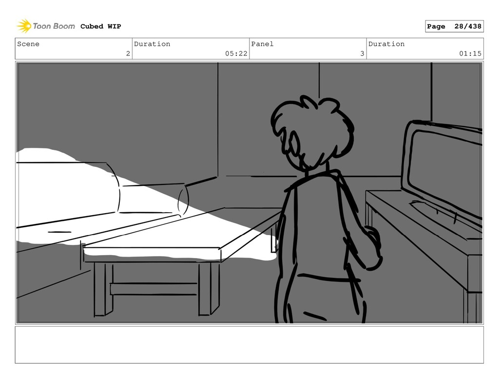 Scene 2 Duration 05:22 Panel 3 Duration 01:15 C...