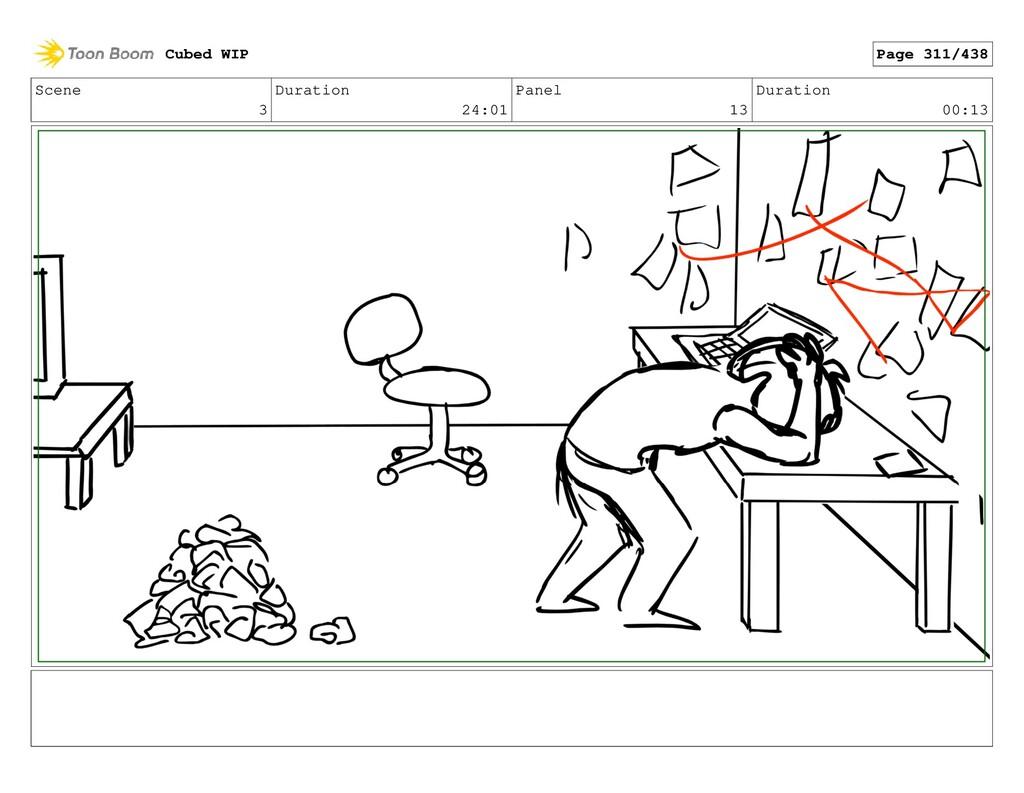 Scene 3 Duration 24:01 Panel 13 Duration 00:13 ...