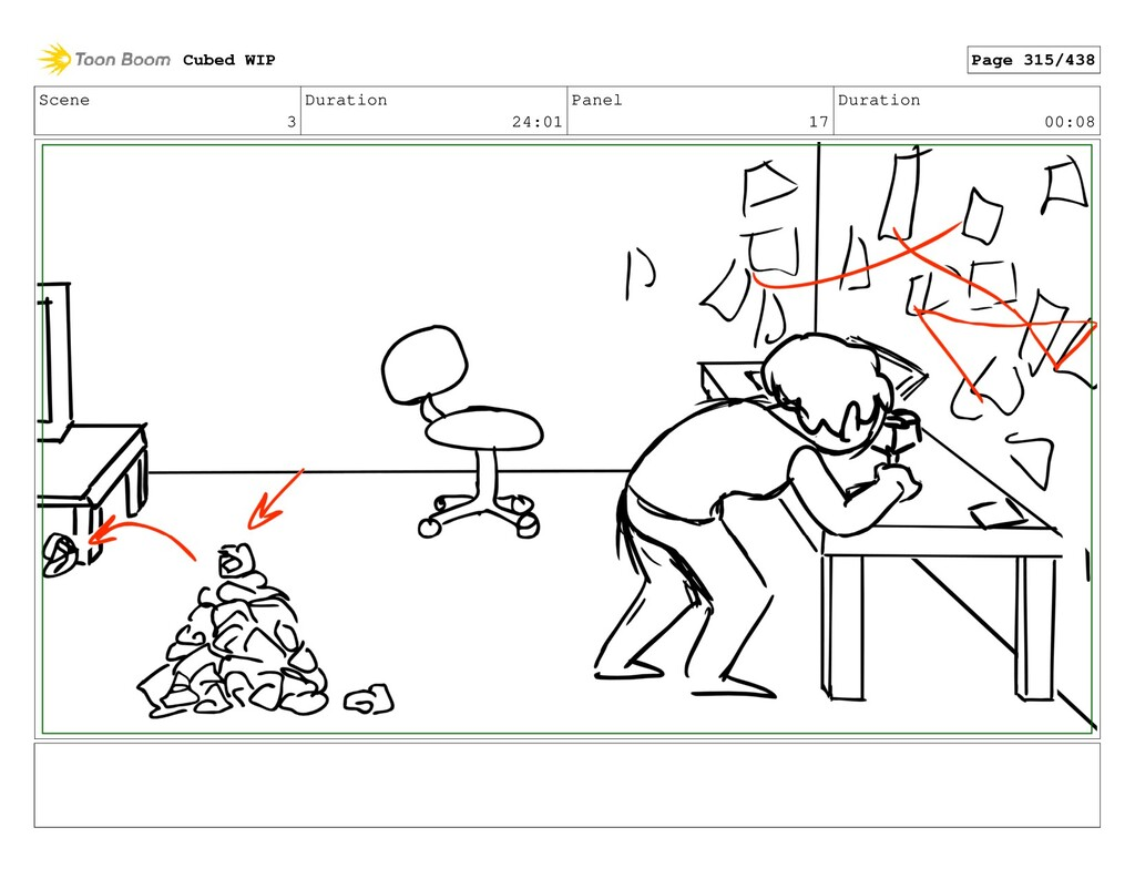 Scene 3 Duration 24:01 Panel 17 Duration 00:08 ...