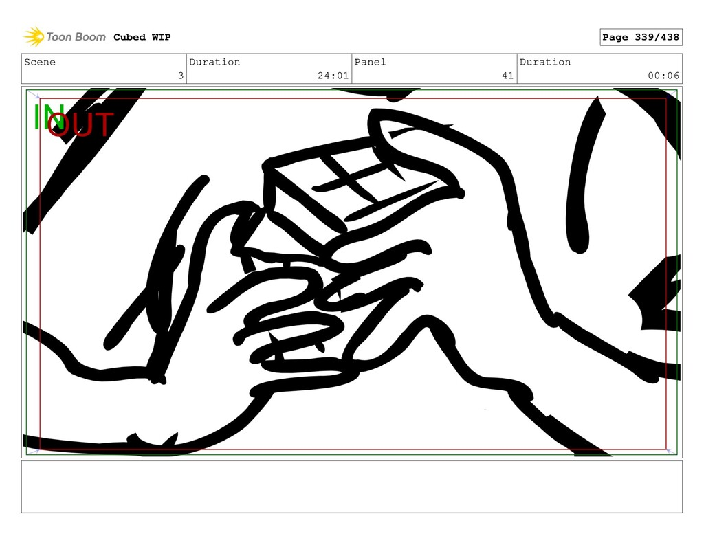 Scene 3 Duration 24:01 Panel 41 Duration 00:06 ...