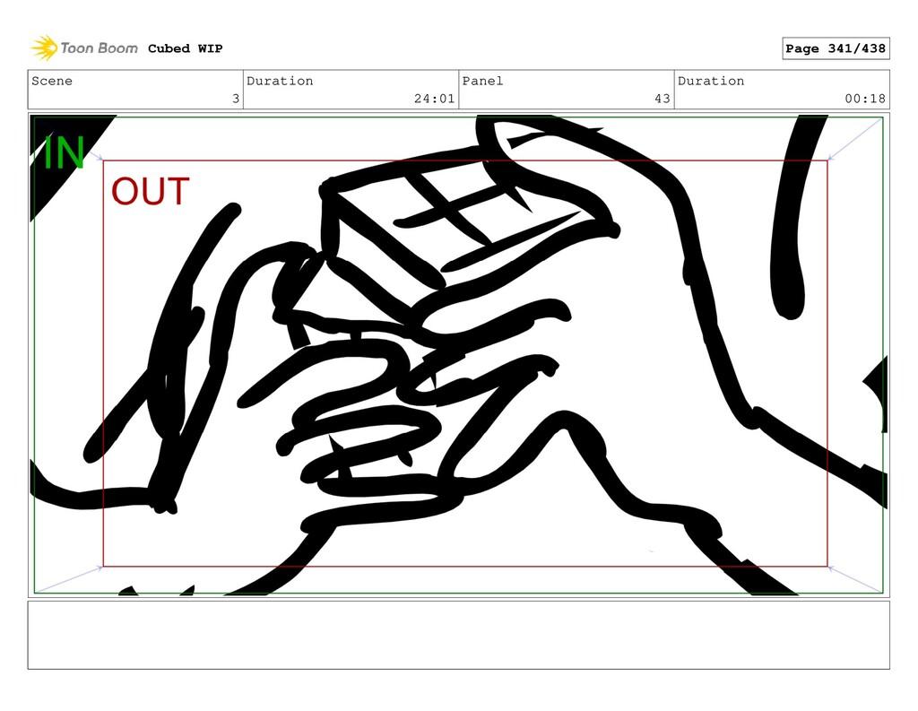 Scene 3 Duration 24:01 Panel 43 Duration 00:18 ...