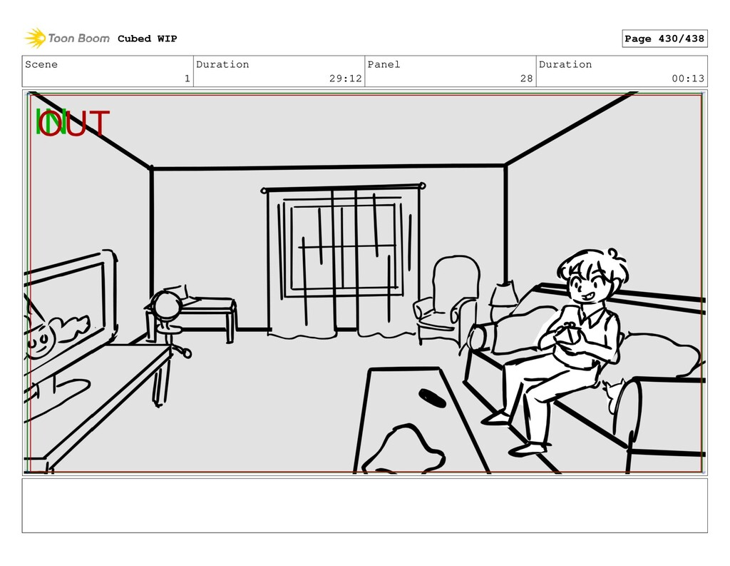 Scene 1 Duration 29:12 Panel 28 Duration 00:13 ...