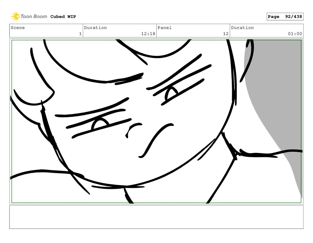 Scene 1 Duration 12:18 Panel 12 Duration 01:00 ...