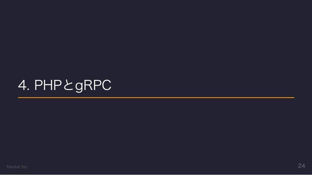 4. PHPとgRPC Nextat Inc. 24