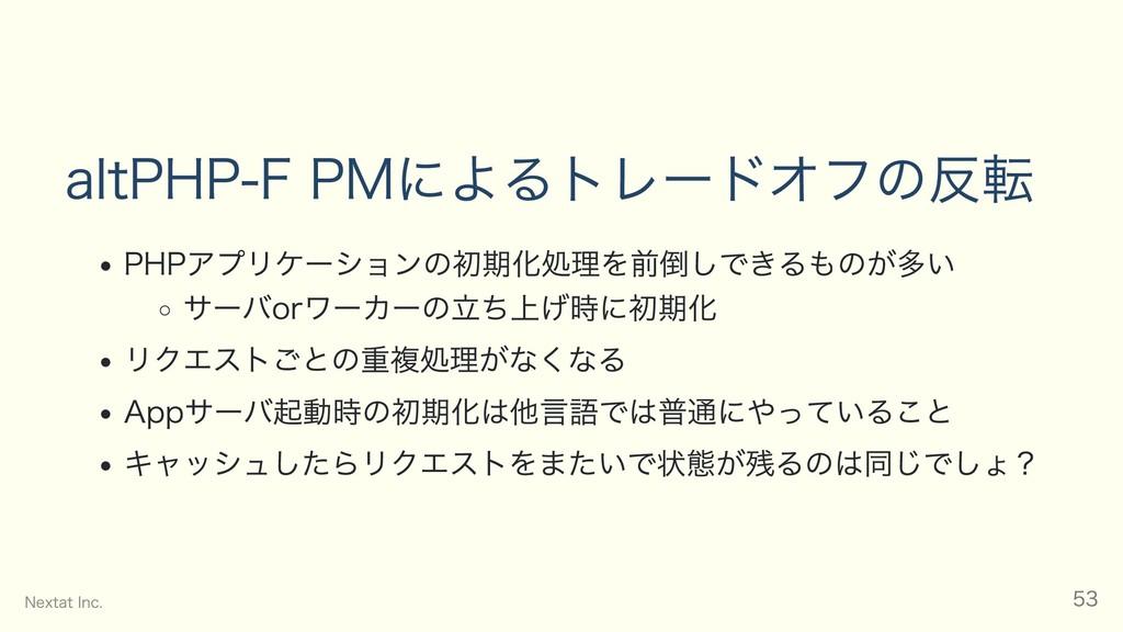 alt PHP‒FPMによるトレードオフの反転 PHPアプリケーションの初期化処理を前倒しでき...