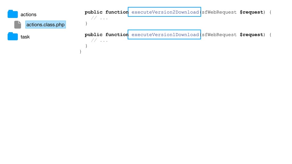 actions.class.php actions task public function ...