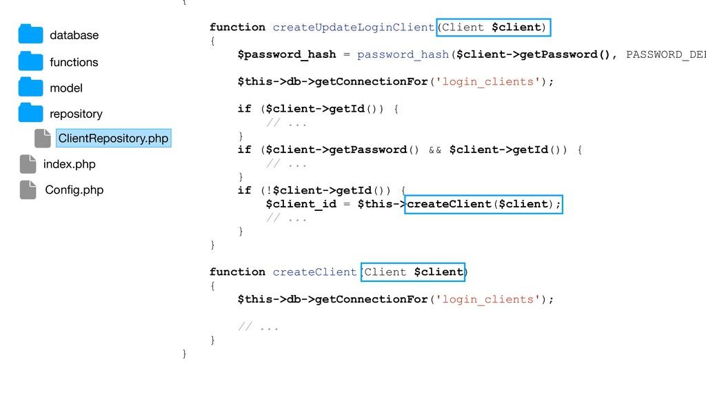 { function createUpdateLoginClient(Client $clie...