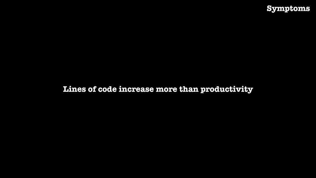Lines of code increase more than productivity S...