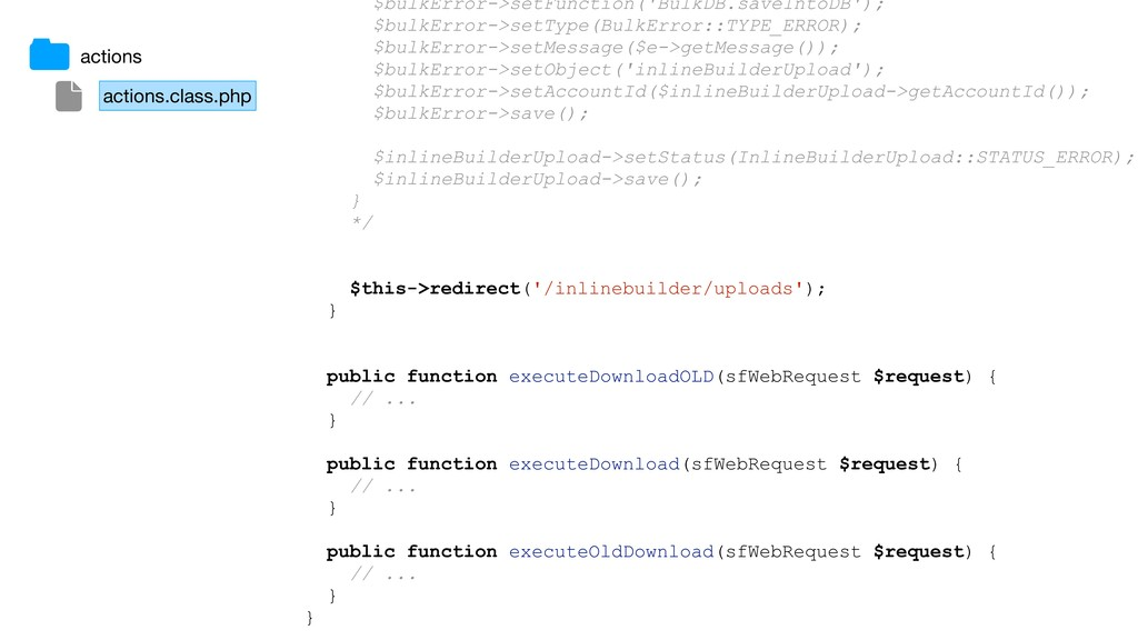 actions.class.php actions $bulkError->setFuncti...