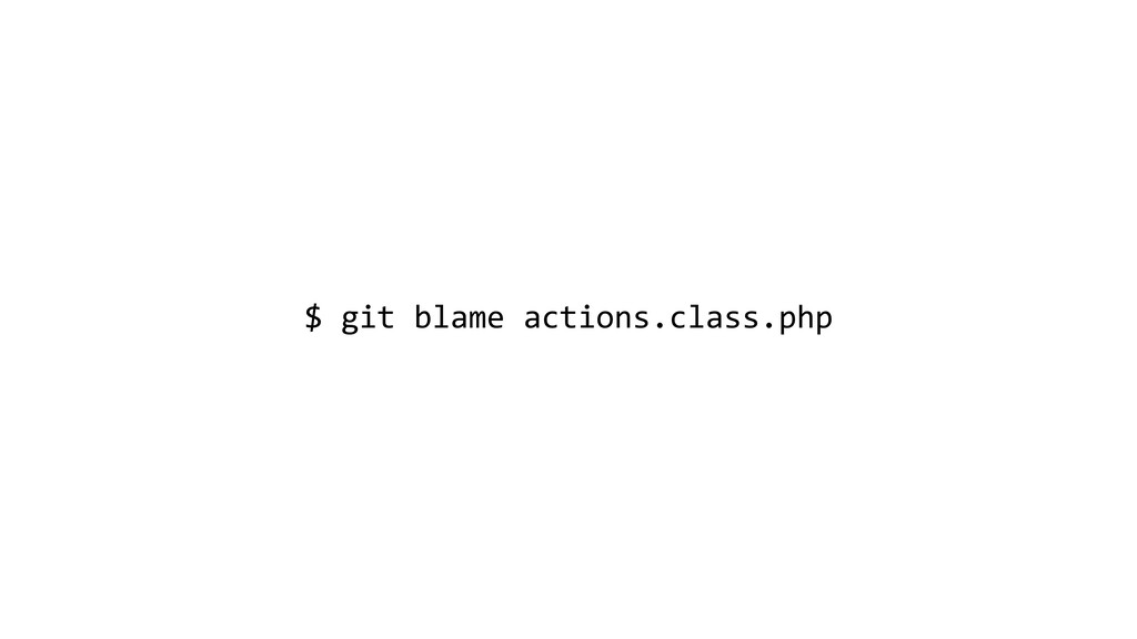 $ git blame actions.class.php