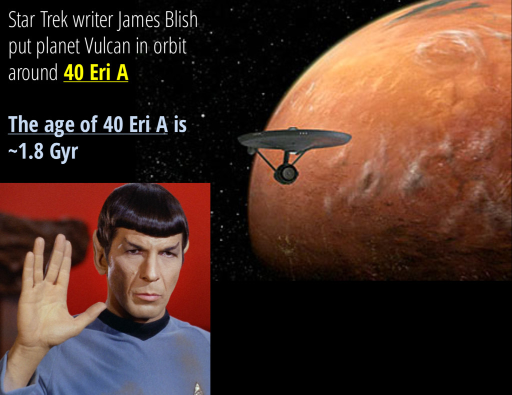 Star Trek writer James Blish put planet Vulcan ...