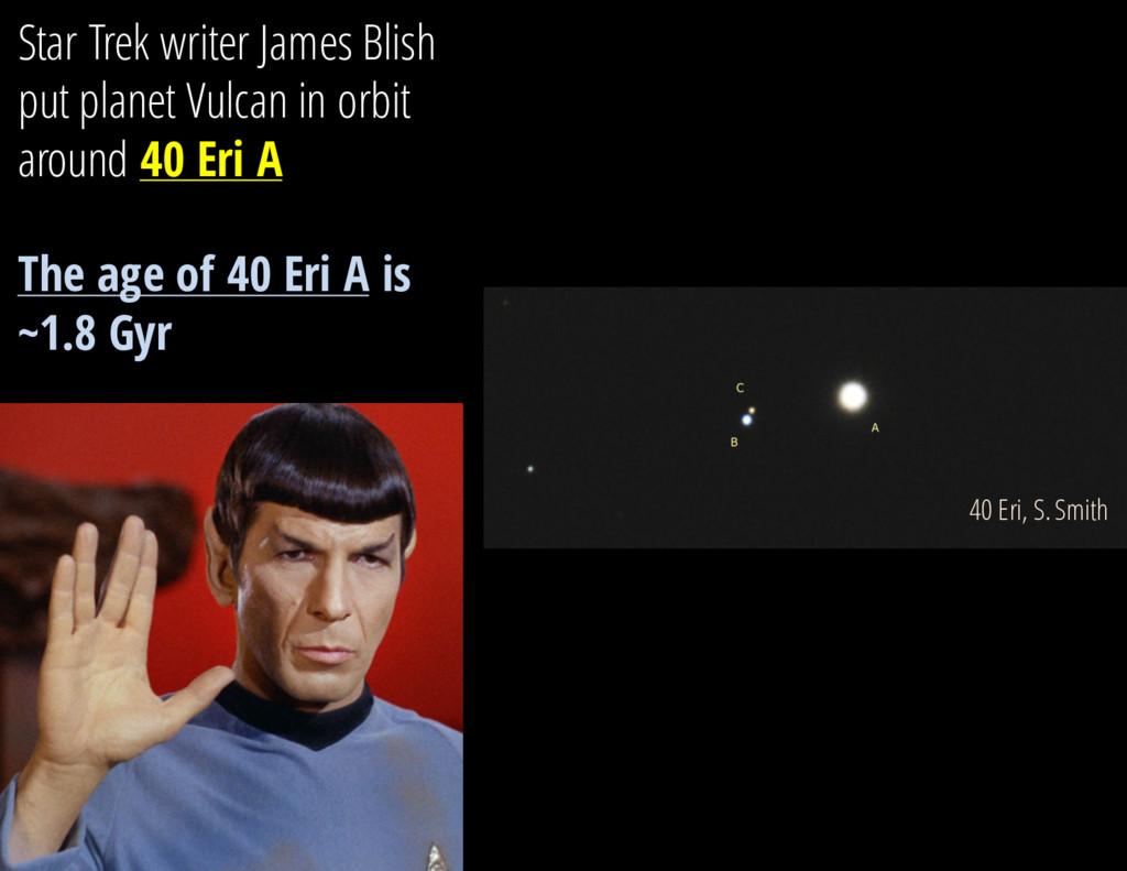 Star Trek writer James Blish put planet Vulcan ...