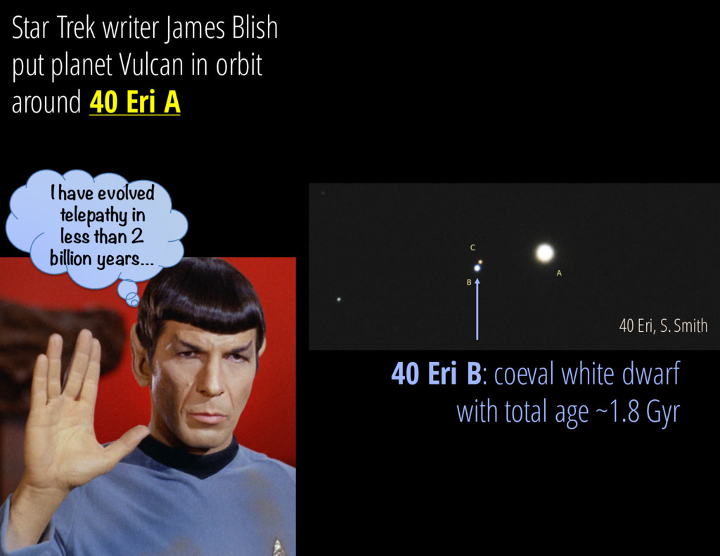 40 Eri, S. Smith Star Trek writer James Blish p...