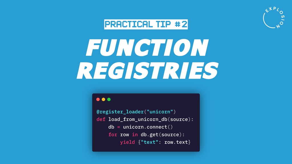 FUNCTION REGISTRIES PRACTICAL TIP #2