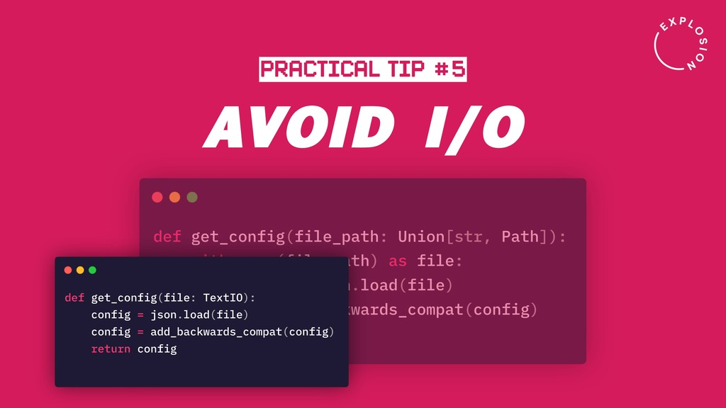 AVOID I/O PRACTICAL TIP #5