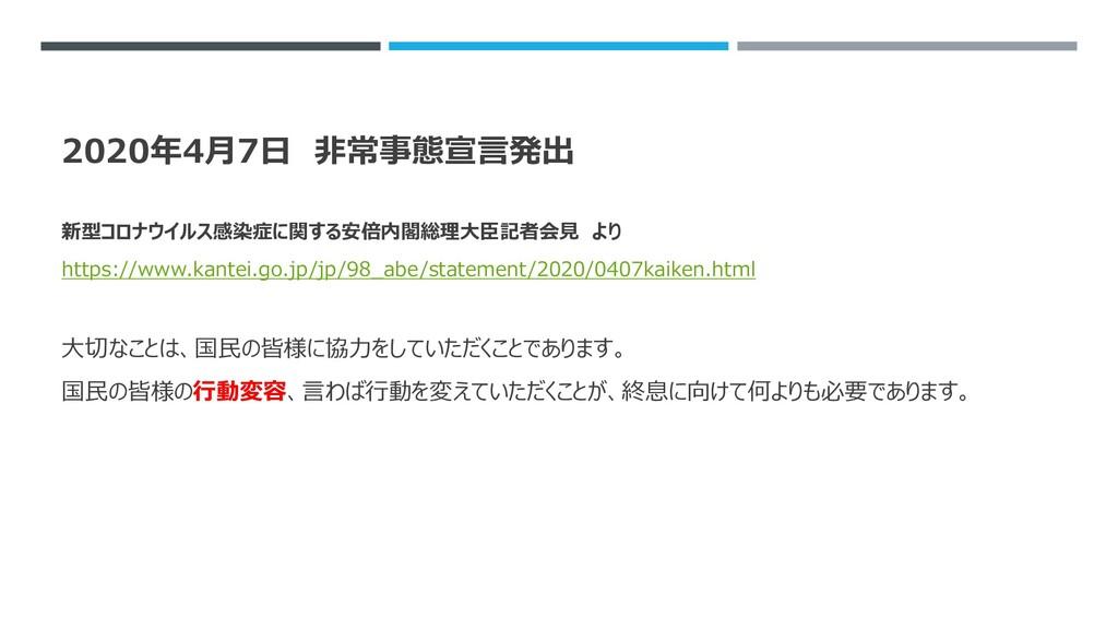 2020年4月7日 非常事態宣言発出 新型コロナウイルス感染症に関する安倍内閣総理大臣記者会見...