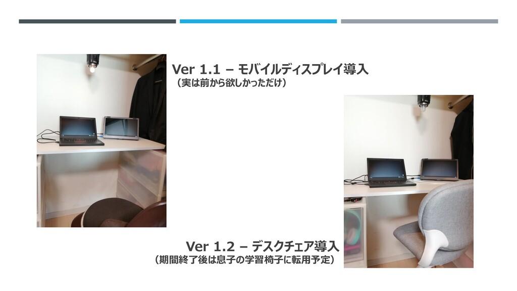 Ver 1.1 – モバイルディスプレイ導入 (実は前から欲しかっただけ) Ver 1.2 –...