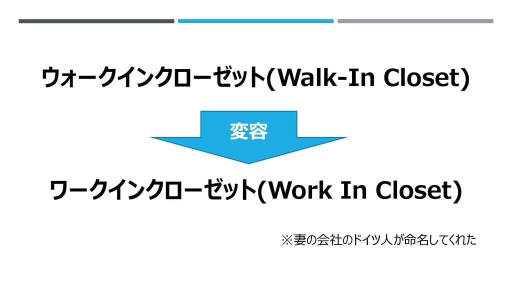 ウォークインクローゼット(Walk-In Closet) ワークインクローゼット(Work I...