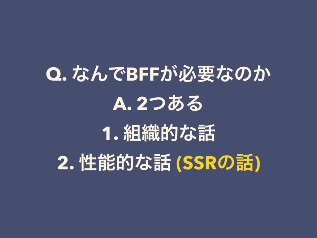 Q. ͳΜͰBFF͕ඞཁͳͷ͔ A. 2ͭ͋Δ 1. ৫తͳ 2. ੑతͳ (SSRͷ...