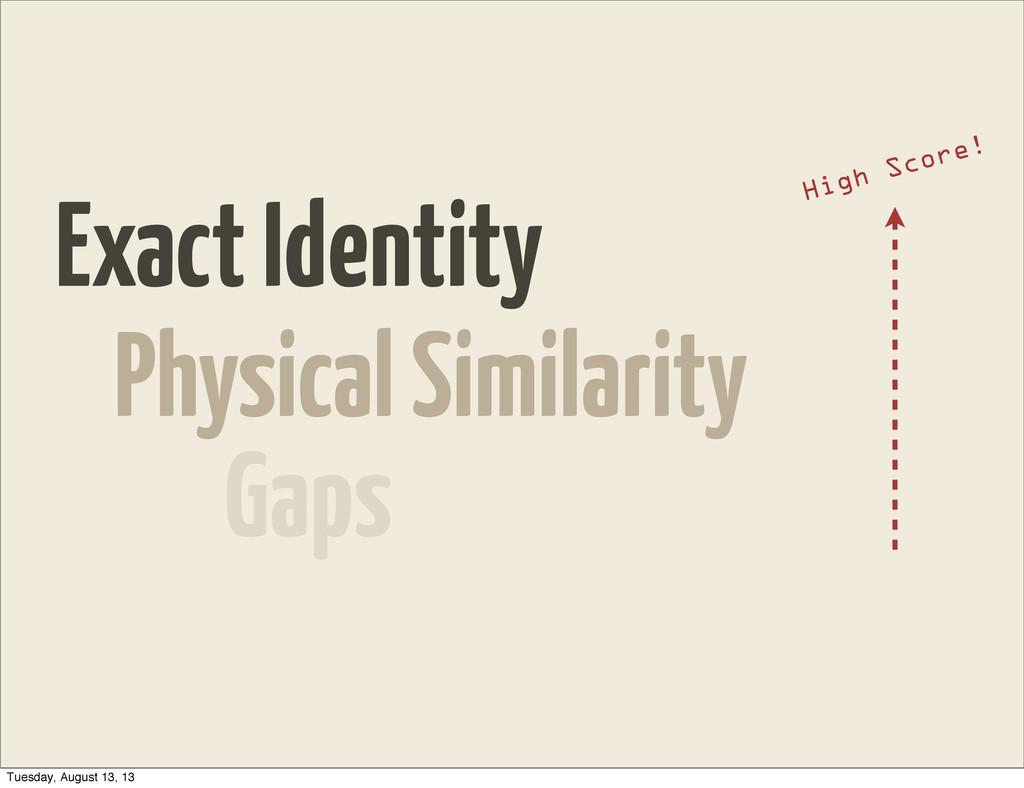 Exact Identity Physical Similarity Gaps High Sc...