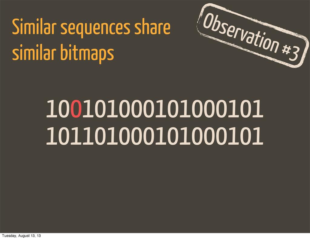 101101000101000101 Observation #3 Similar seque...