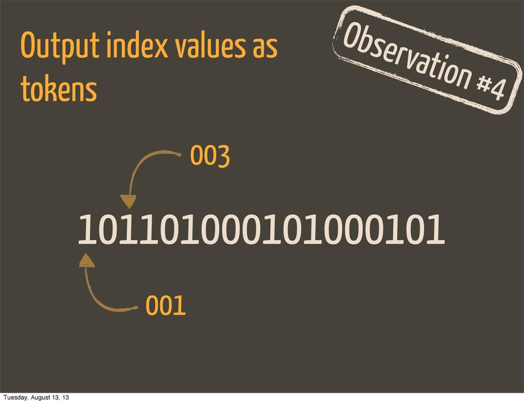 101101000101000101 Observation #4 Output index ...