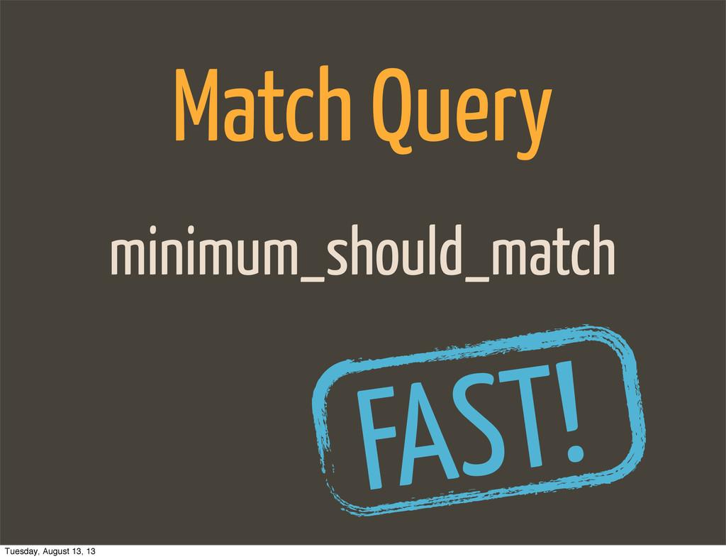 minimum_should_match Match Query FAST! Tuesday,...