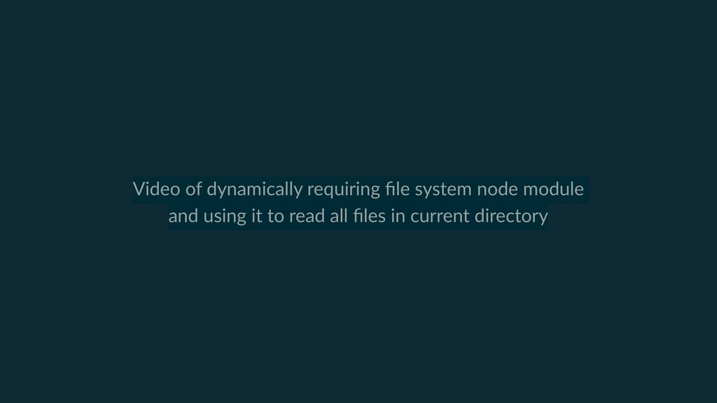 Video of dynamically requiring file system node ...