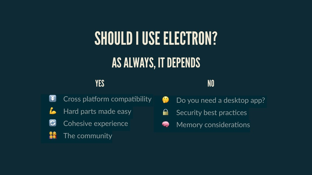 SHOULD I USE ELECTRON? ⏬ Cross pla=orm compa)bi...