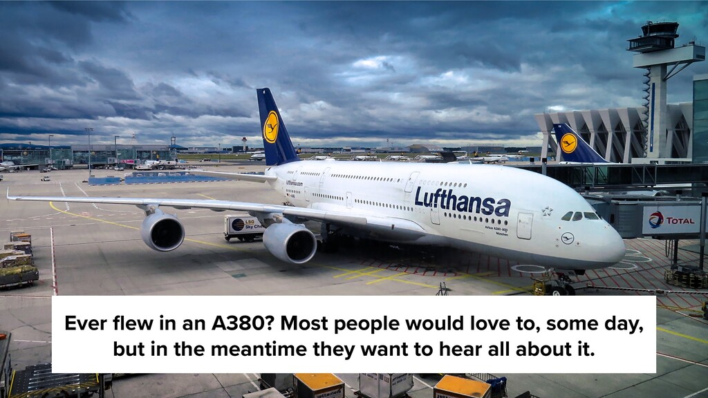 Ever flew in an A380? Most people would love to,...