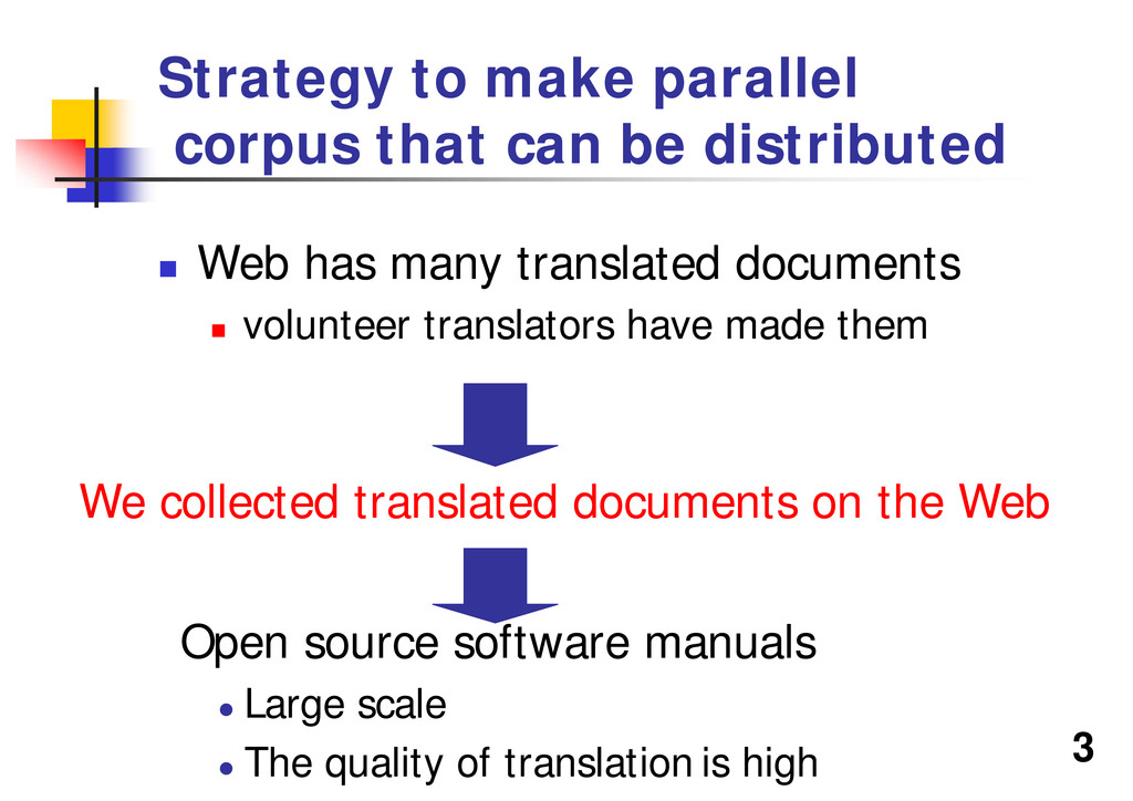 3 Strategy to make parallel corpus that can be ...