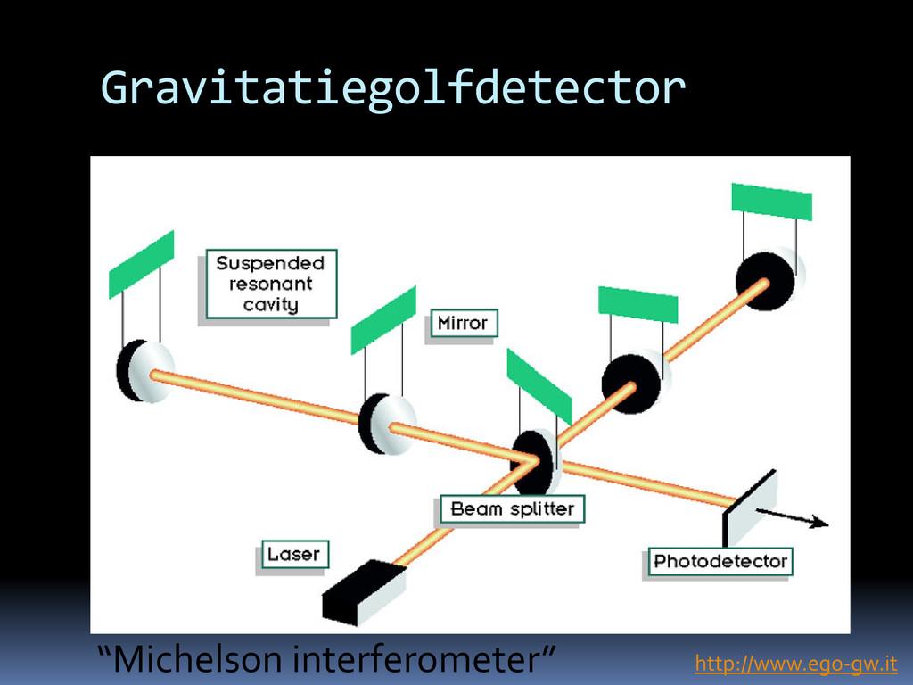 "Gravitatiegolfdetector http://www.ego-gw.it ""Mi..."