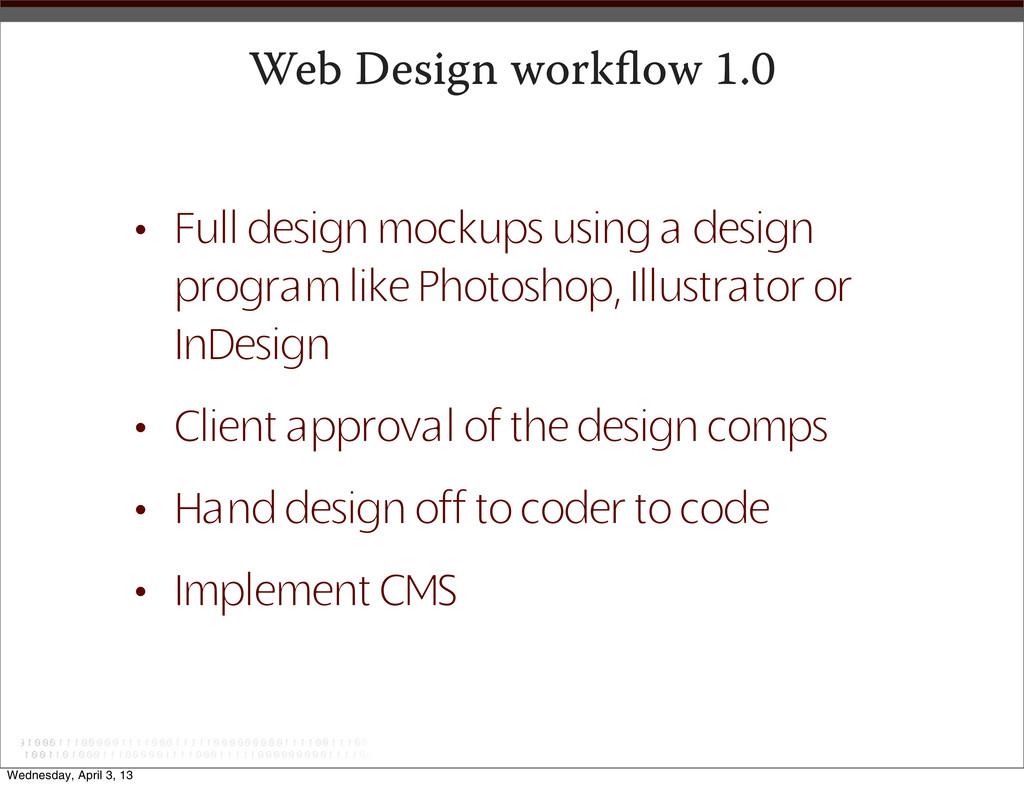 Web Design workflow 1.0 • Full design mockups us...