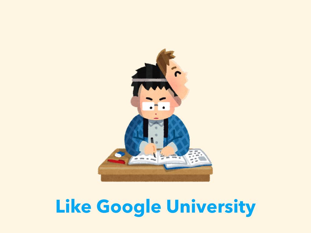 Like Google University