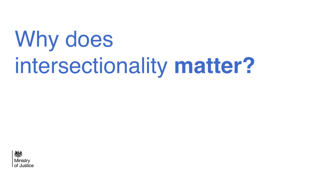 Why does intersectionality matter?