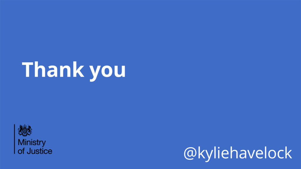 Thank you @kyliehavelock
