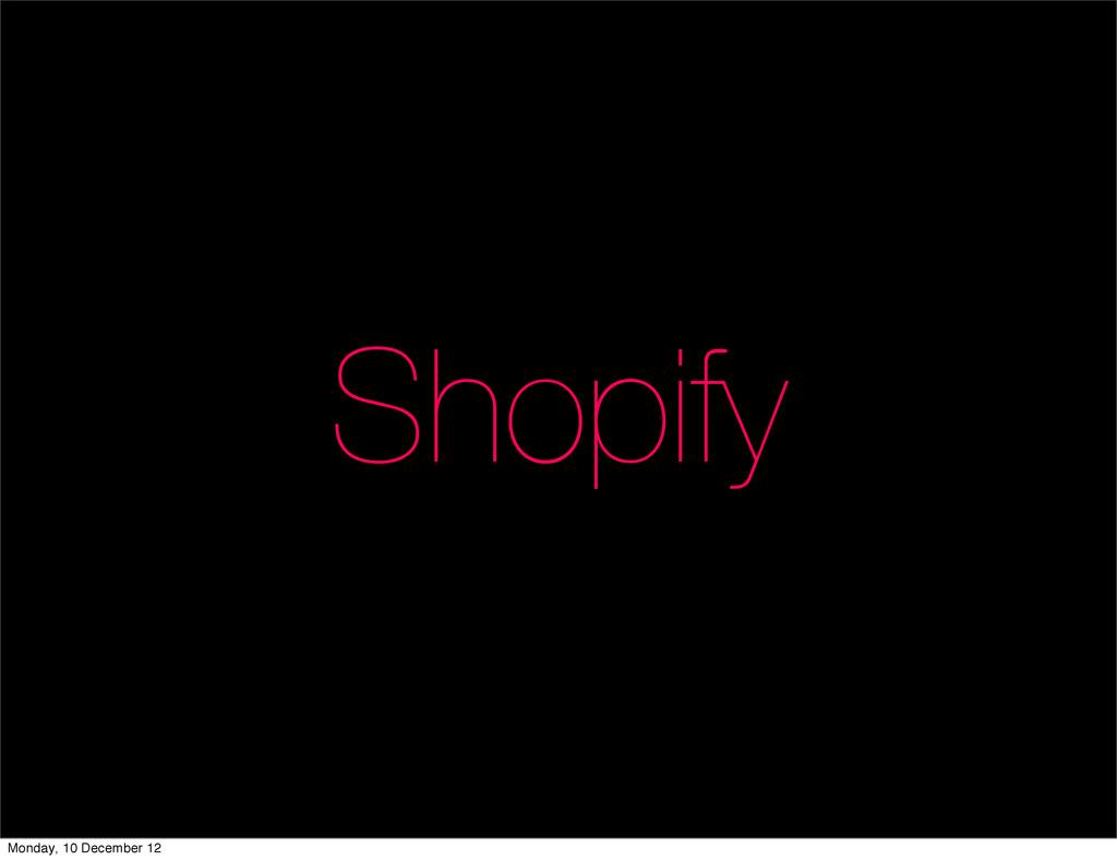 Shopify Monday, 10 December 12