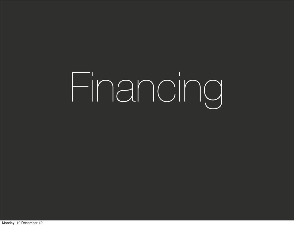 Financing Monday, 10 December 12