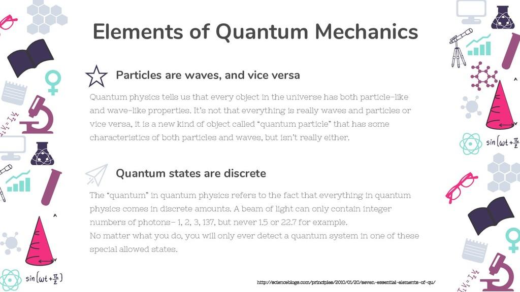"The ""quantum"" in quantum physics refers to the ..."