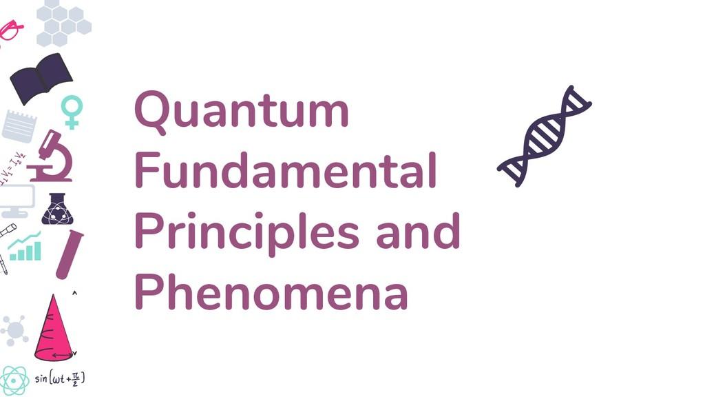 Quantum Fundamental Principles and Phenomena
