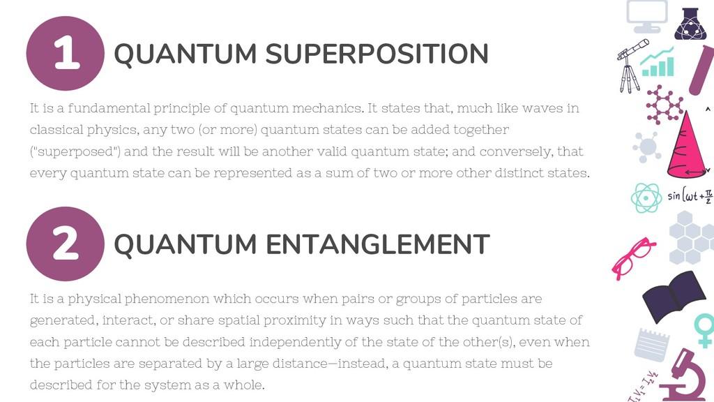 QUANTUM SUPERPOSITION 1 It is a fundamental pri...