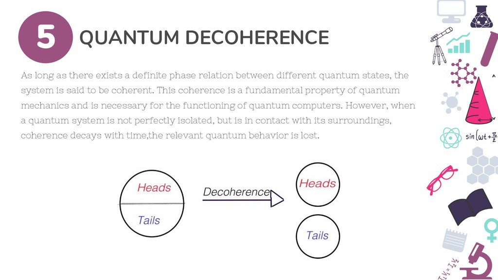 QUANTUM DECOHERENCE 5 As long as there exists a...