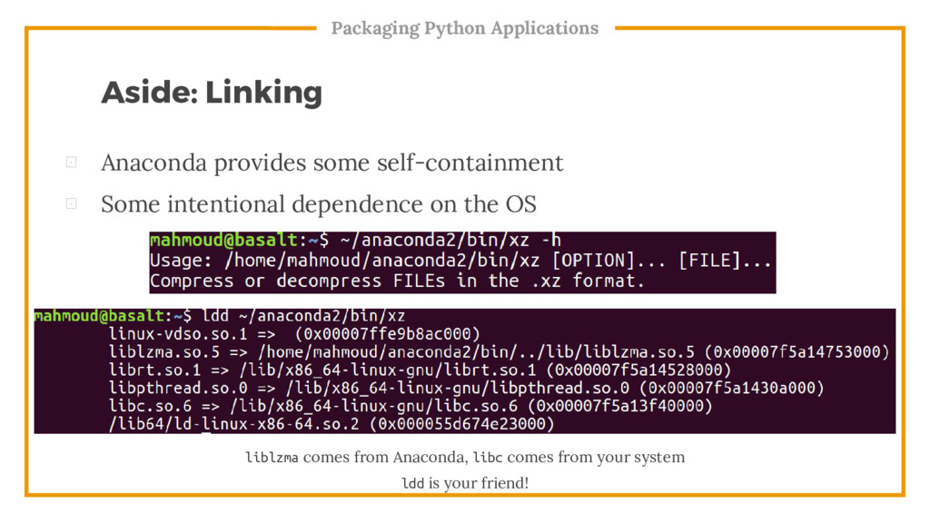Packaging Python Applications liblzma comes fro...