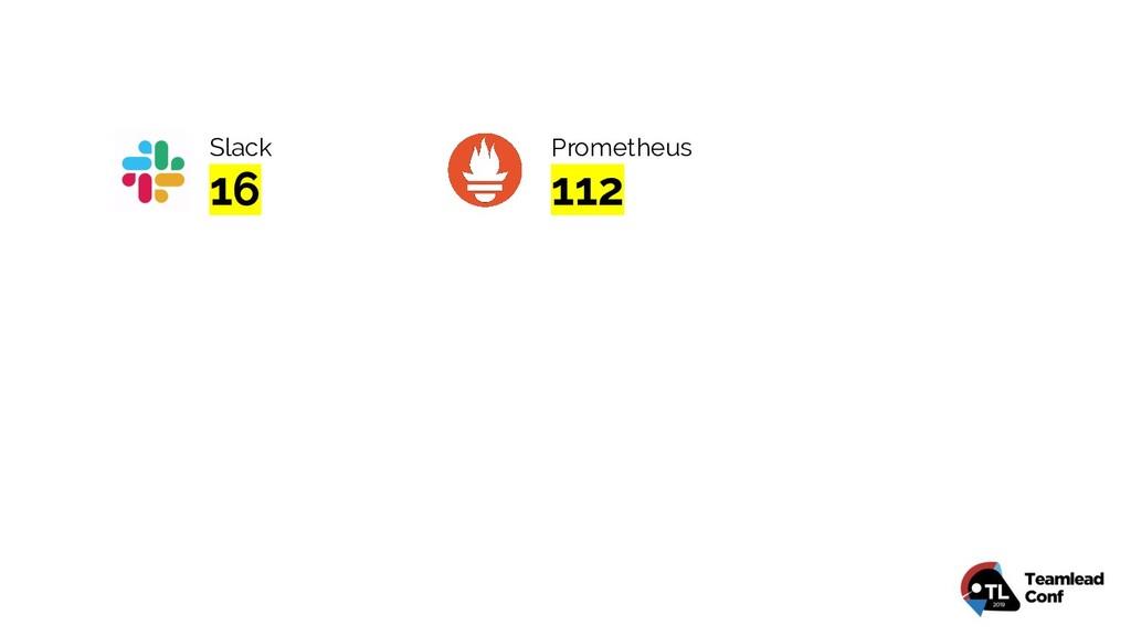Slack 16 Prometheus 112