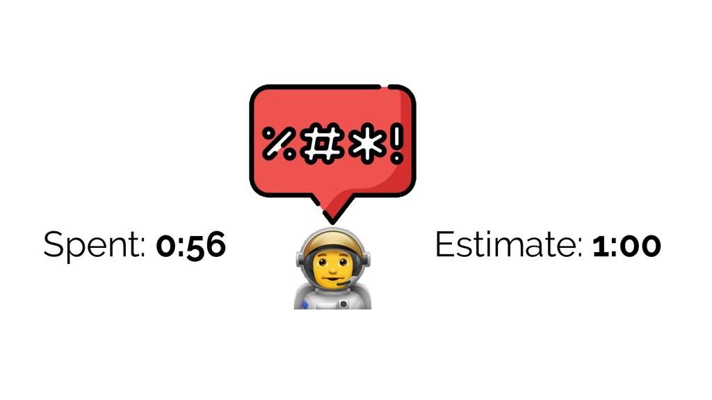 Estimate: 1:00 Spent: 0:56